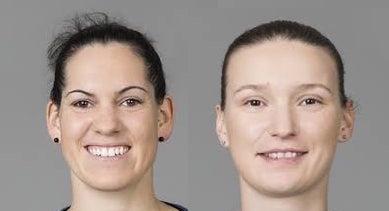 Amandine Leynaud et Alexandra Lacrabère